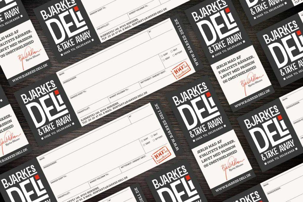take-away-label-design